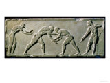 Young Men Wrestling  from a Statue Base Found in the Dipylon Cemetery  Athens  c510 BC