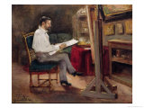 The Artist Morot in His Studio  c1874