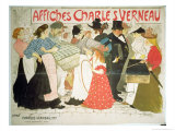 The Street  Poster For the Printer Charles Verneau  1896