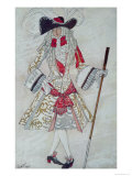 Costume Design For Prince Charming at Court  from Sleeping Beauty  1921