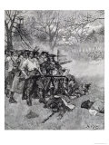 Lexington Green  Harper's Magazine  c1883