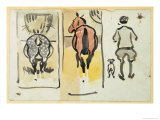 Page from a Scrapbook Containing 43 Sketches