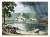 La Roche  from Views on the Seine  Engraved by Thomas Sutherland
