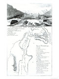 Perspective View of Lake George and a Plan of Ticonderoga