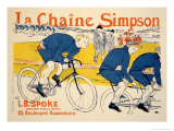 Reproduction of a Poster Advertising &#39;The Simpson Chain&#39;  Paris  1896