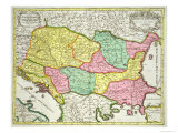 Map of the Kingdom of Hungary and States United to Its Crown  Pub by JBElwe  Amsterdam  1742
