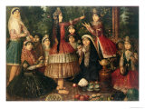 Women and Children in a Garden  19th Century
