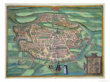 Map of Metz  from Civitates Orbis Terrarum by Georg Braun