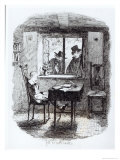 Monks and the Jew Discover Oliver  Illustration from Oliver Twist by Charles Dickens  1838