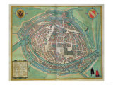 Map of Strasbourg  from Civitates Orbis Terrarum by Georg Braun