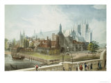 Westminster Hall and Abbey  Engraved by Daniel Havell