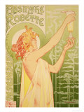 Reproduction of a Poster Advertising 'Robette Absinthe'  1896