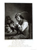 The Flemish Smoker  Engraved by Francois Bernard Lepicie