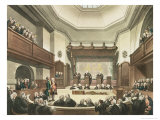 Court of Common Pleas  Westminster Hall  from The Microcosm of London  Engraved by J C Stadler