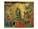 Adoration of the Magi  Detail from a Predella Panel  1434
