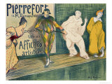 Reproduction of a Poster Advertising 'Pierrefort Artistic Posters'  Rue Bonaparte  1897