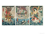 The Actor Ichikawa Ebizo V as the Deity Fudo Myoo Rescuing Ichikawa Danjuro VIII  c1850