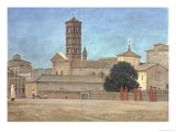View of the Campanile of Santa Francesca Romana  Rome  1873