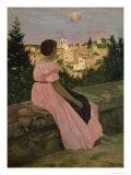 The Pink Dress  or View of Castelnau-Le-Lez  Herault  1864