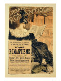 Reproduction of a Poster Advertising a Book Entitled The Romantic Age  1887