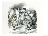 Alice Meets the Dodo  Illustration from Alice&#39;s Adventures in Wonderland  by Lewis Carroll  1865