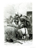 North-Western Afghan Mountain Troops Fighting Against the British  Engraved by H Koch
