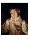 Child Blowing on an Ember  c1570
