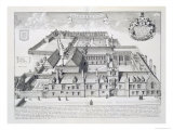 Balliol College  Oxford  from Oxonia Illustrata  Published 1675