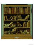 Trompe L'Oeil of a Bookcase  1710-20