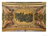 Helping the People During the Famine of 1662  Ceiling Painting from the Galerie Des Glaces