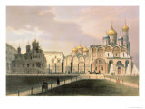 View of the Cathedrals in the Moscow Kremlin  Printed by Lemercier  Paris  1840S