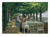 The Terrace at the Restaurant Jacob in Nienstedten on the Elbe  1902