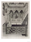 Staircase at Strawberry Hill  Engraved Newton  Description of Strawberry Hill  c1784