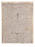 Designs For Mazes  from The Dutch Gardener by Johann Van Der Groen  Published 1699