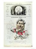 Caricature of Alexandre Dumas Pere