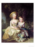 Child Portraits of Marie-Therese-Charlotte of France