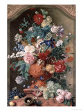 Flowers in a Terracotta Vase  1736