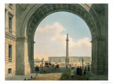 Palace Square  Arch of the Army Headquarters  St Petersburg  Printed by Lemercier  Paris  c1840