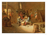 Guardroom Interior with Soldiers Playing Cards