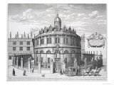 Sheldonian Theatre  Oxford  from Oxonia Illustrata  Published 1675