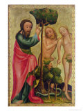 God the Father Punishes Adam and Eve  Detail from the Grabow Altarpiece  1379-83