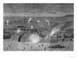 War of the Pacific - Bombardment of the City of Iquique  Chile  by the Chilean Squadron  1879