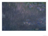 Waterlilies: Reflections of Trees  Detail from the Left Hand Side  1915-26