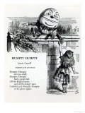 Humpty Dumpty  Illustration For the Nursery Rhyme by Lewis Carroll