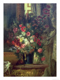 Vase of Flowers on a Console  1848-49