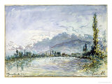 The River Isere at Grenoble  1877