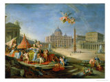 Piazza San Pietro  Rome with an Allegory of the Triumph of the Papacy  1757