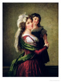 Madame Rousseau and Her Daughter  1789