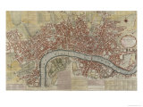 New and Exact Plan of the Cities of London and Westminster and the Borough of Southwark  1725