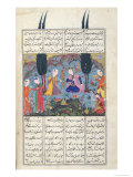 Court Scene in a Garden  Illustration from the Shahnama